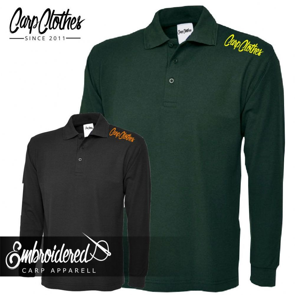 020 EMBROIDERED CARP LS  POLO